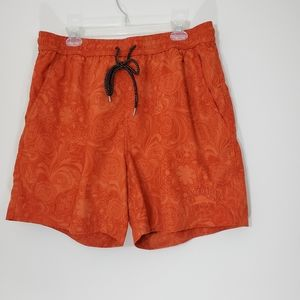 Tommy Bahama Orange Swim Trunks, Size Large